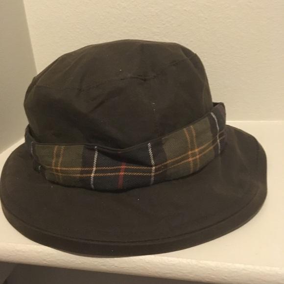 9c0aaea9b8d Barbour Beckley Waxed Cotton Tartan Bucket hat